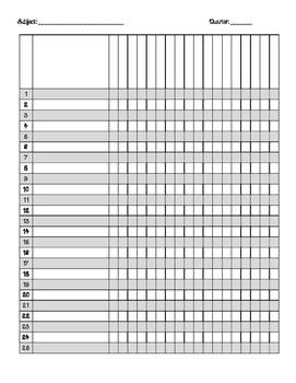 Grade Record Page