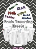 Grade Recording Sheets FREEBIE