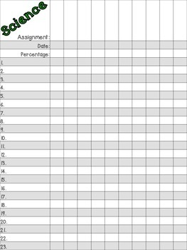 Grade Recording Sheets FREEBIE