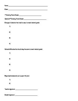Grade Reflection Sheet