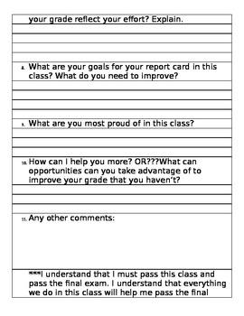 Grade Reflections