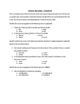 Grade Saver - subjonctif, PC/IMP, réflexif