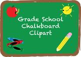 Grade School Chalkboard Clipart