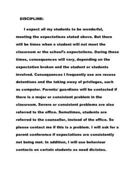 Grade Seven/Eight Parent Handbook