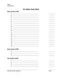 Six Weeks Grade Sheet
