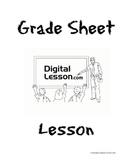 Grade Sheet Fractions, Decimals, and Percents Lesson