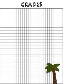 Grade Sheets Jungle Theme