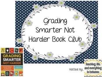 Grade Smarter Not Harder Book Club Freebie