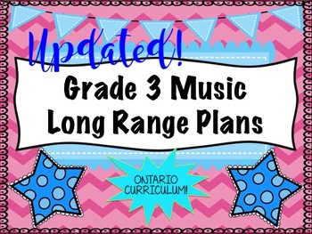 Grade THREE Music Long Range Plans (Ontario Curriculum Based) Primary