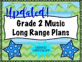 Grade TWO Music Long Range Plans (Ontario Curriculum Based