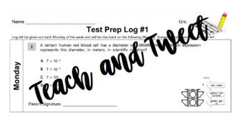 Grade 8 Test Prep Log #1