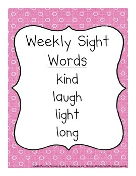 Grade Three Dolch Words Weekly Sight Word Activities AMERICAN SPELLINGS
