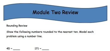 Grade Three EngageNY Module 2 End Review
