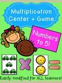 Grade Three/Four Math: Basic Multiplication Game/Center up