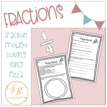 Grade Three/Four Math: Pizza Party Fraction Worksheets 3.NF.A.1, 3.NF.A.3.D