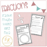 Grade Three/Four Math: Pizza Party Fractions Worksheets 3.NF.A.1, 3.NF.A.3.D