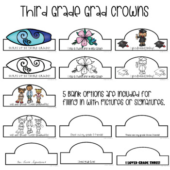 Grade Three Graduation Crowns