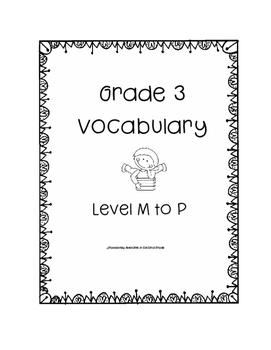 Grade Three Leveled Reading Vocabulary