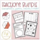 Grade Three Math: Fractions BUNDLE Common Core Aligned