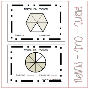 "Grade Three/Four Math: ""My Fraction Booklet"" for Fraction Unit Introduction"