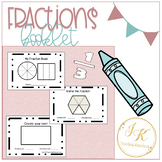 """Grade Three/Four Math: """"My Fraction Booklet"""" for Fraction"""
