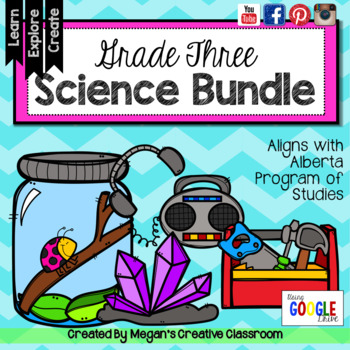 Grade Three Science Bundle {Science Unit Experiments Research STEAM}
