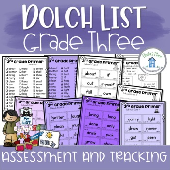 Dolch Sight Word Assessment and Tracking Grade Three