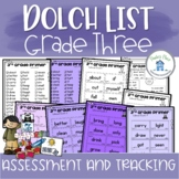 Sight Word Assessment and Tracking Grade Three