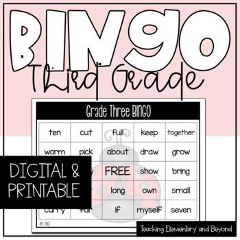 Grade Three Sight Word Bingo {Class Set}