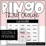 Google Classroom™ Grade Three Sight Word Bingo Activity
