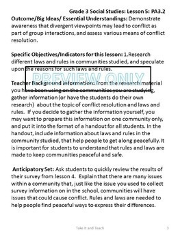 Grade Three Social Studies - Units 1-4 Bundled Set