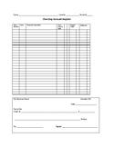 Grade Tracker Check Book