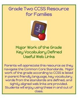 Grade Two CCSS Math Resource for Families