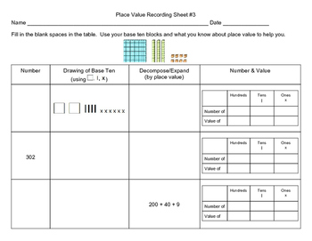 Grade Two - Drawing, Expanding, Place & Value Activities
