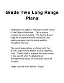 Grade Two Long Range Plans in Ontario