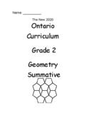 Grade 2 Geometry Test (Ontario)