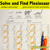 Grade 2 Math Worksheets Solve and Find Monster