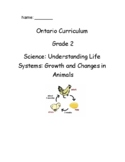 Grade 2 Science Growth and Changes in Animals Test (Ontario)