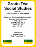 Grade Two Social Studies Communities Units 1-4 Bundled Set