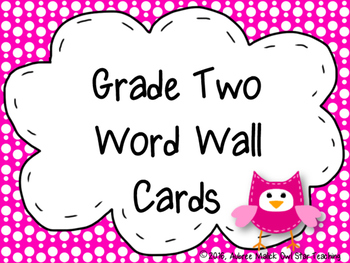 Grade Two Word Wall Cards