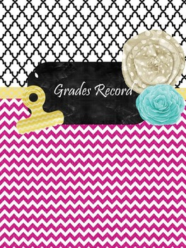 Grade book {Chevron Themed} FREE