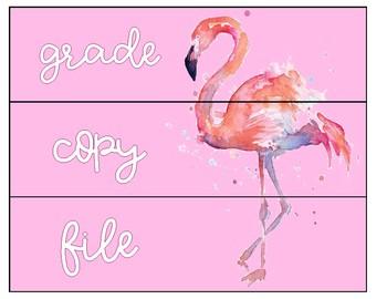 Grade, copy, file label