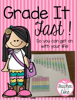 Grade it Fast {And Get on with your life!} Freebie