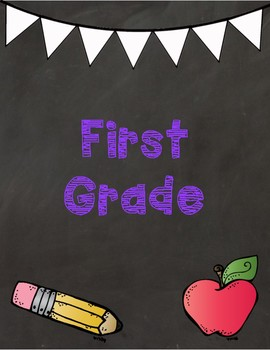 Grade level binder covers K-3