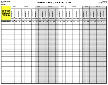 Grade or Score Record/Tracking Sheet