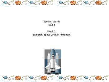 Grade two Unit one spelling words weeks 1-5 reading street