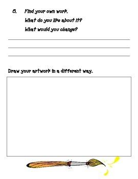 Grade1 Art Museum Worksheet