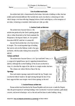 Grade3 Social Study - Architecture2 - Greek and Roman - Bilingual Chn