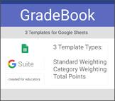 GradeBook Templates for Google Sheets