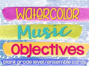 Grade/Ensemble Objective Blank Posters (Paint Stroke/Watercolor Theme)